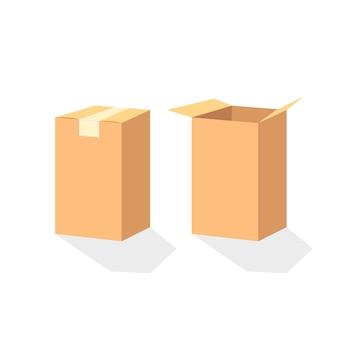 閉じた箱と開いた箱