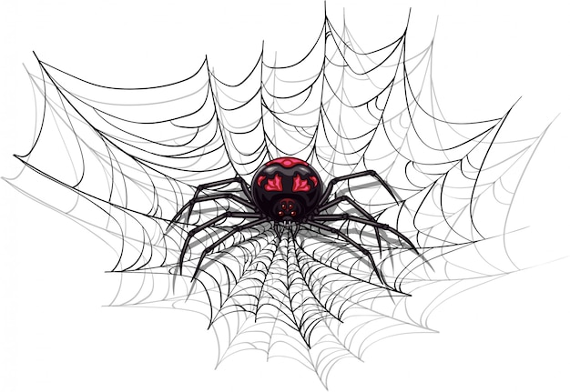 ハロウィーンデザインの大きな怖いクモ。
