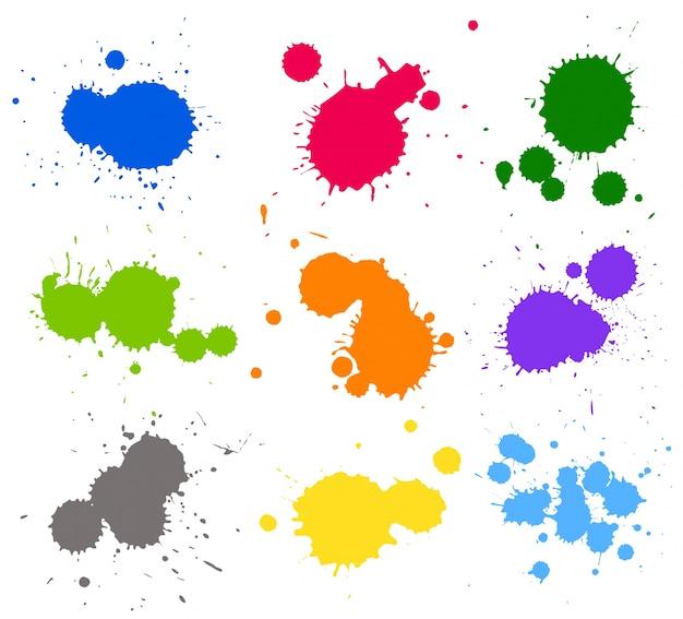 白い背景にさまざまな色のスプラッシュと壁紙のテーマ