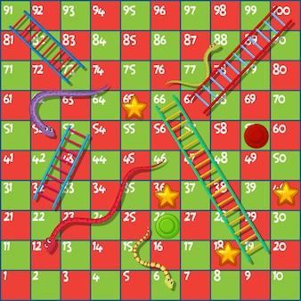 ヘビとはしごのボードゲーム