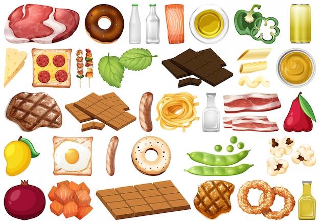 Набор изолированных продуктов питания