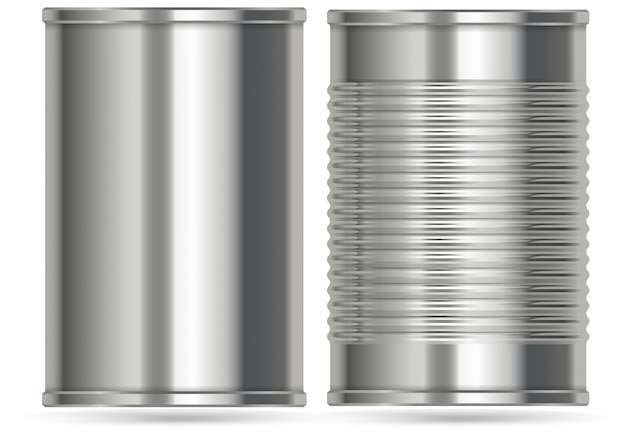 Алюминиевые банки в двух разных исполнениях