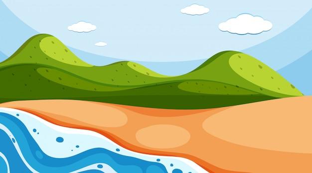 昼間の海と自然の風景