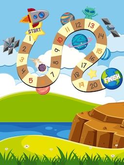ロケットと惑星のボードゲーム