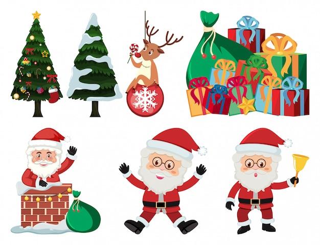 Рождественский набор с дедом морозом и подарками