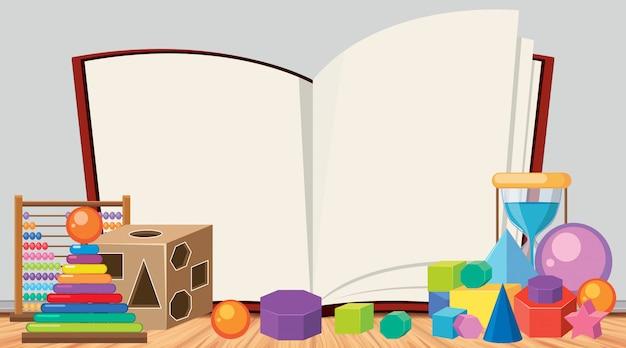 Шаблон границы с множеством игрушек