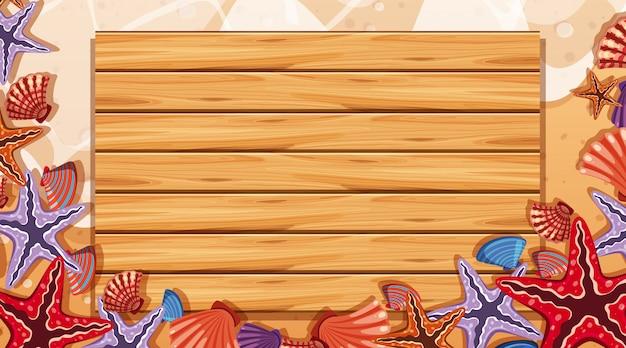 Шаблон границы с пляжной сцены в фоновом режиме
