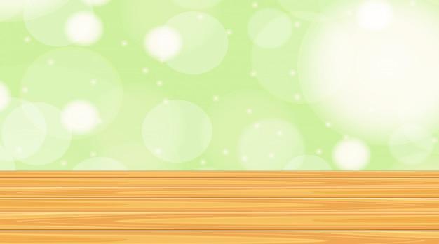 緑の壁と木製の床の背景テンプレート