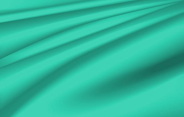 緑の波と背景デザイン