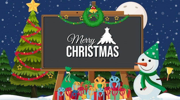 クリスマスをテーマにした境界線テンプレート