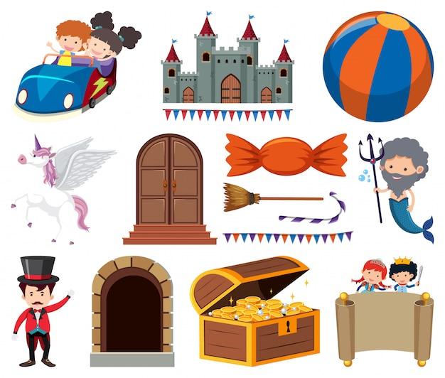 Набор сказочных персонажей и предметов
