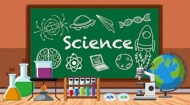 Научная лаборатория с большим количеством оборудования