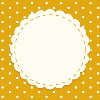 Шаблон фона с круглой рамкой