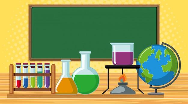 Лабораторная комната со многими научными приборами