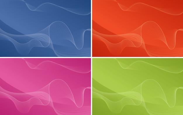 抽象的なパターンを持つ背景テンプレート