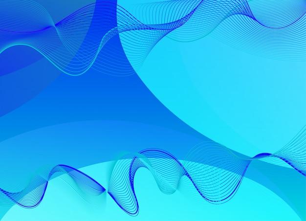 Фон шаблон дизайна с синими волнами