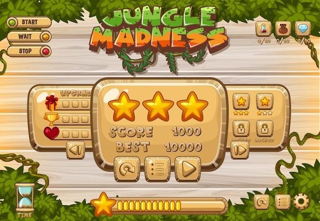 Компьютерная игра с зелеными листьями на борту