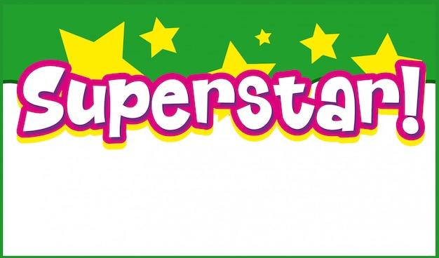 Фон шаблон дизайна со словом суперзвезда