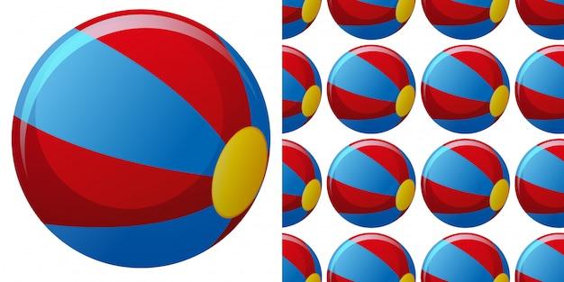 ビーチボールとのシームレスな背景デザイン