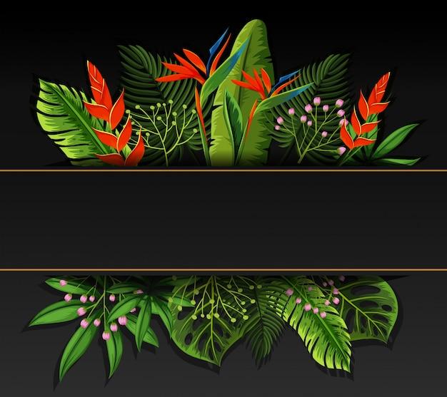 鳥の楽園の花のバナーデザイン