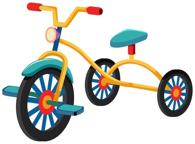 Трехколесный велосипед с синим сидением