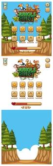 Дизайн для компьютерной игры с животными и полем