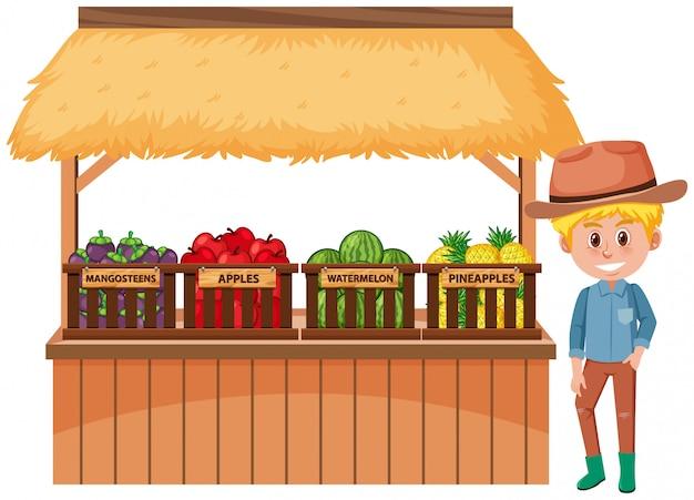 果物と農家の分離と食品ベンダー