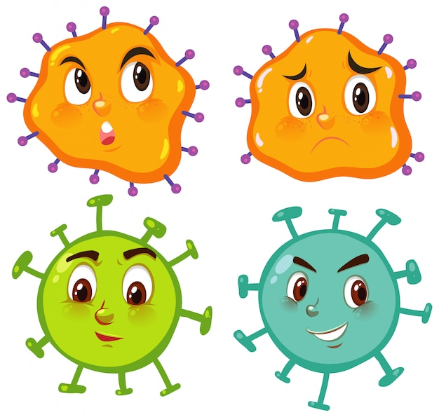 顔の表情を持つウイルス細胞