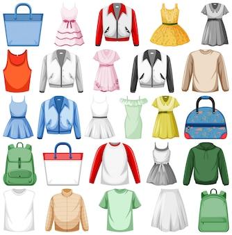 ファッション衣装のセット