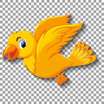 かわいい黄色の鳥の漫画のキャラクター