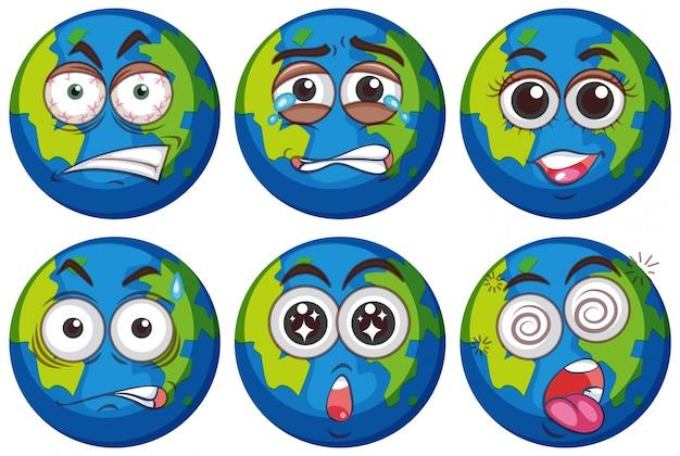 Выражения лица на земле
