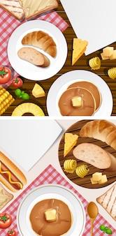 テーブル上の別の食べ物