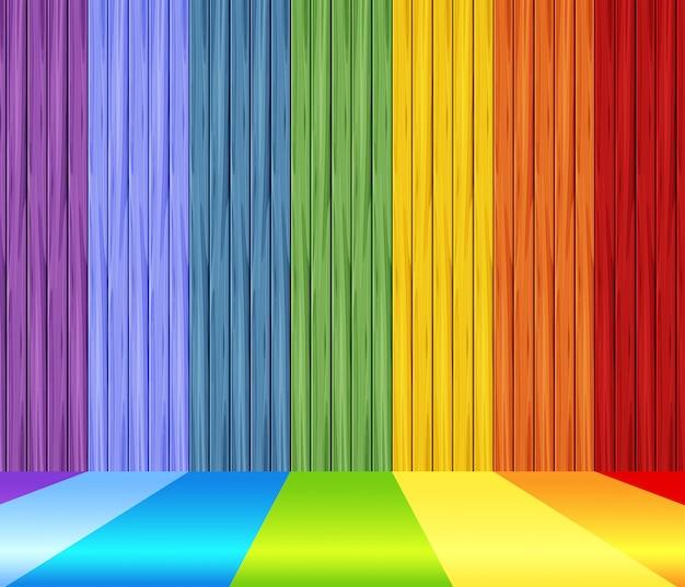 虹の壁の背景デザイン