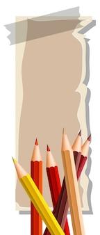 Тонкая бумага со многими цветными карандашами