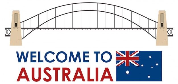 オーストラリアのハーバーブリッジ、白い背景