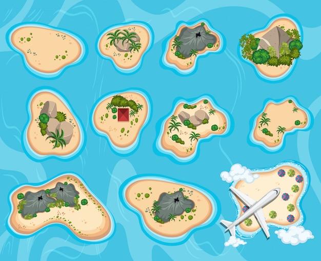 島の鳥瞰図