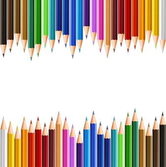 上、下の色の鉛筆で背景テンプレート