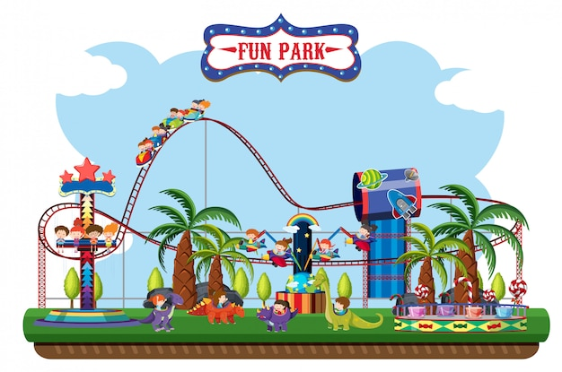 Карта парка развлечений