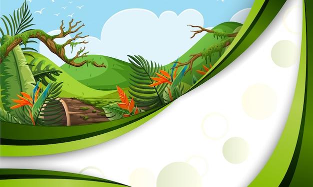 Зеленый шаблон джунглей