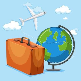 Концепция самолета и багажа