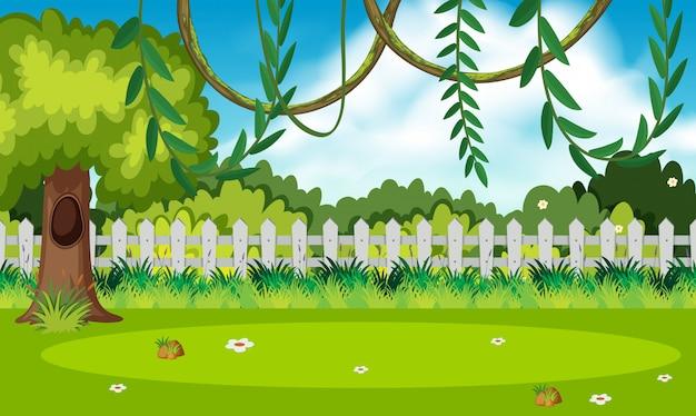 自然の緑の庭