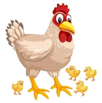 Курица и цыпленок