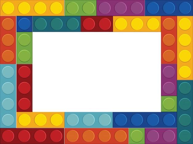 カラフルなブロックの境界概念