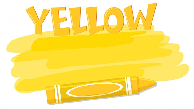 黄色の塗料とクレヨン
