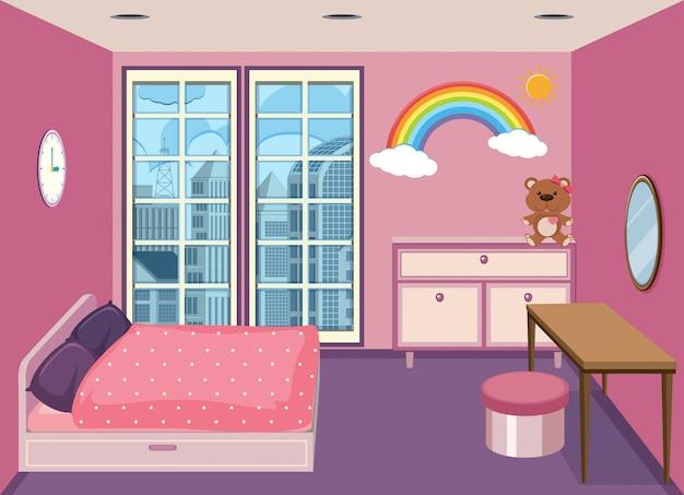 アパートの寝室