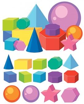 数学幾何形状のセット