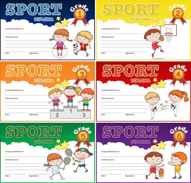 Набор спортивного сертификата
