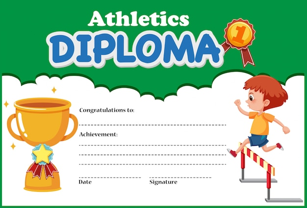 Шаблон сертификата атлетики