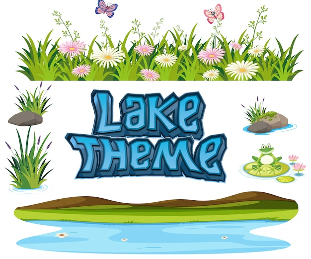 Набор элементов озера