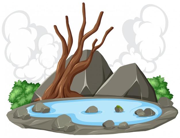 池の自然の風景